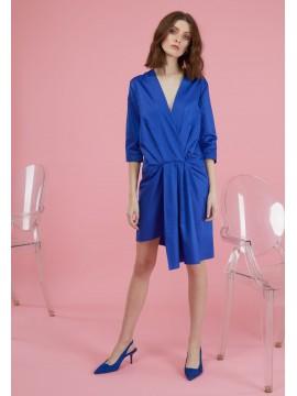 Rochie de zi scurta albastra Chloe
