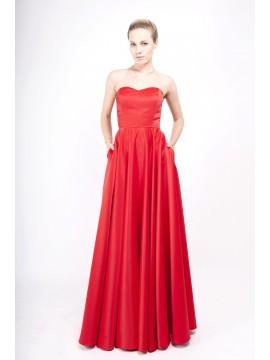 Rochie din tafta cu corset