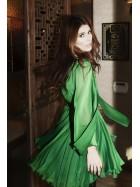 Rochie scurta verde, revelion- CLOCHE