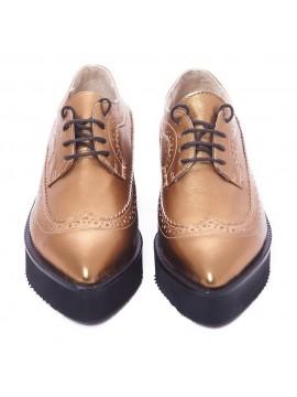 Pantofi Oxford bronz