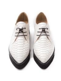 Pantofi oxford sarpe alb  - shop designeri romani