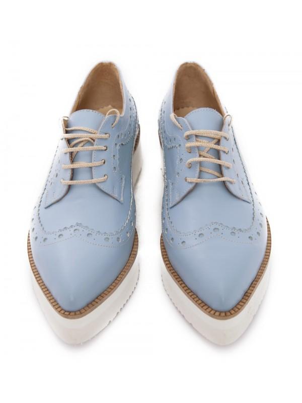 Pantofi oxford bleu femei - shop designeri romani