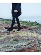 Cizme peste genunchi , negre, piele ecologica - Bianca Georgescu
