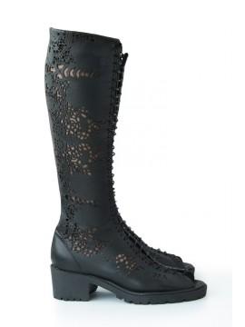 Cizme negre, piele naturala - Bianca Georgescu