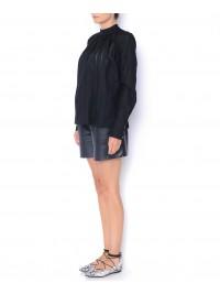 Camasa neagra din bumbac   - Framboise