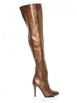 Cizme bronz peste genunchi - piele naturala - Joyas