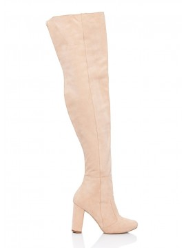 Cizme nude peste genunchi - piele naturala - Joyas