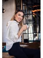 Camasa alba cu nasturi la spate bumbac - Designeri Romani  - The ITem