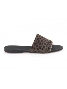 Papuci Ponei Animal Print - piele naturala - Joyas