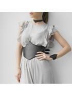 Brau corset negru - piele naturala - Maestoso